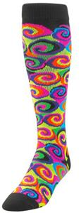 Twin City Krazisox Over Calf Neon Swirls Socks