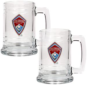 MLS Colorado Rapids 2pc Glass Tankard Set