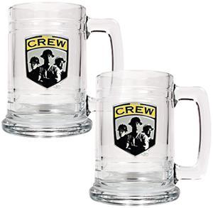 MLS Columbus Crew 2pc Glass Tankard Set
