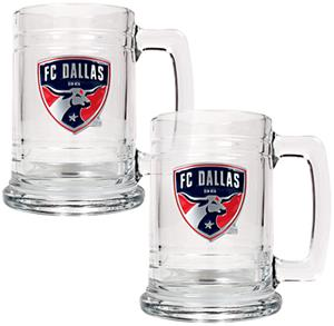 MLS FC Dallas 2pc Glass Tankard Set