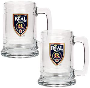 MLS Real Salt Lake 2pc Glass Tankard Set