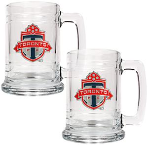 MLS Toronto FC 2pc Glass Tankard Set
