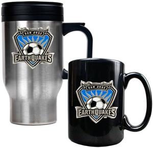 MLS San Jose Earthquakes Travel & Coffee Mug Set