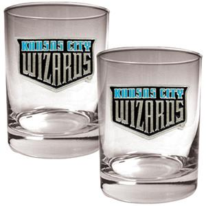 MLS Kansas City Sporting 2pc Rocks Glass Set