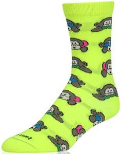 Twin City Krazisox Neon Monkeys Mini Crew Socks