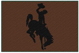 "Northwest NCAA Wyoming Cowboys 39""x59"" Rugs"