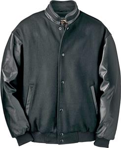 North End Mens Melton Leather Jacket
