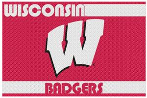 Northwest NCAA Wisconsin Badgers Old Glory Rugs