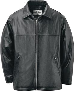 North End Mens Mid Length Classic Leather Jacket
