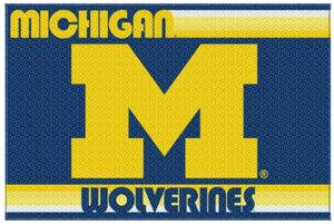 Northwest NCAA Michigan Wolverines Old Glory Rugs