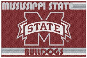 Northwest NCAA Mississippi Bulldogs Old Glory Rugs
