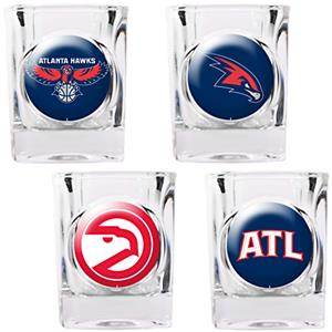 NBA Atlanta Hawks 4pc Collector's Shot Glass Set