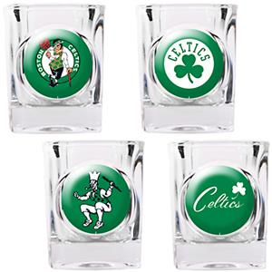 NBA Boston Celtics 4pc Collector's Shot Glass Set