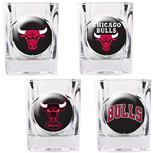 NBA Chicago Bulls 4pc Collector's Shot Glass Set