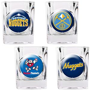 NBA Denver Nuggets 4pc Collector's Shot Glass Set