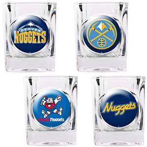 NBA Denver Nuggets 4pc Collector's Shot Glass Set