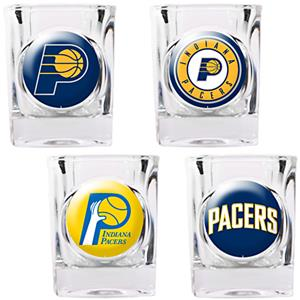 NBA Indiana Pacers 4pc Collector's Shot Glass Set