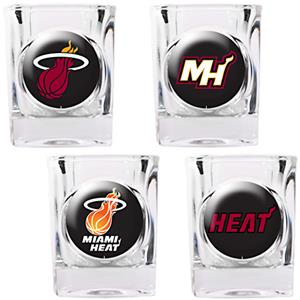 NBA Miami Heat 4pc Collector's Shot Glass Set
