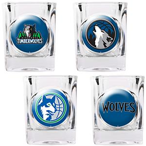 NBA Minnesota Timberwolves Collector Shot Glasses