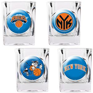 NBA New York Knicks 4pc Collector's Shot Glass Set