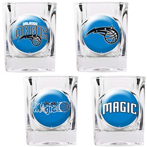 NBA Orlando Magic 4pc Collector's Shot Glass Set