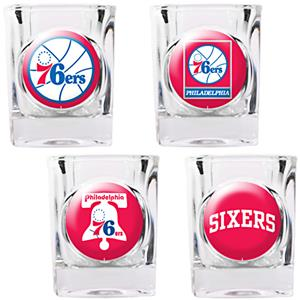 NBA Philadelphia 76ers Collector's Shot Glass Set