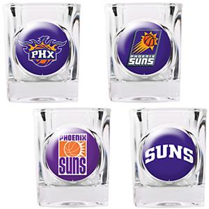 NBA Phoenix Suns 4pc Collector's Shot Glass Set