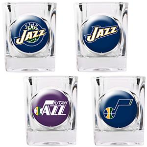 NBA Utah Jazz 4pc Collector's Shot Glass Set