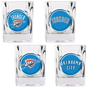NBA Oklahoma City Thunder Collector Shot Glass Set