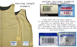 Champro Nylon Tricot Mesh Reversible Jerseys C/O