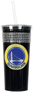 NBA Golden State Warriors Bling Tumbler w/ Straw