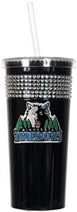 NBA Minnesota Timberwolves Bling Tumbler w/ Straw