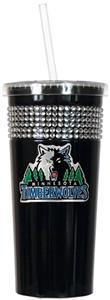 NBA Minnesota Timberwolves Bling Tumbler w/ Straw