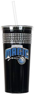 NBA Orlando Magic 16oz Bling Tumbler w/ Straw