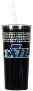 NBA Utah Jazz 16oz Bling Tumbler w/ Straw