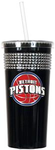 NBA Detroit Pistons 16oz Bling Tumbler w/ Straw