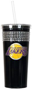 NBA Los Angeles Lakers 16oz Bling Tumbler w/ Straw