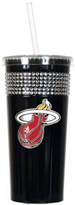 NBA Miami Heat 16oz Bling Tumbler w/ Straw