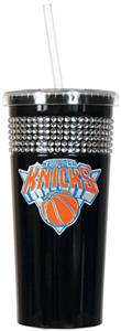 NBA New York Knicks 16oz Bling Tumbler w/ Straw