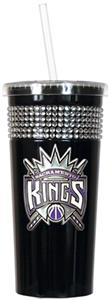 NBA Sacramento Kings 16oz Bling Tumbler w/ Straw