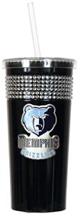 NBA Memphis Grizzlies 16oz Bling Tumbler w/ Straw