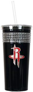 NBA Houston Rockets 16oz Bling Tumbler w/ Straw
