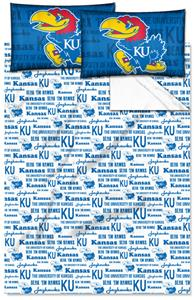 Northwest NCAA Kansas Jayhawks Full Sheet Sets