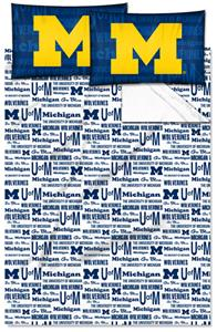 Northwest NCAA Michigan Wolverines Full Sheet Sets