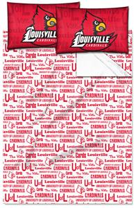 Northwest NCAA Louisville Cardinals Full Sheet Set