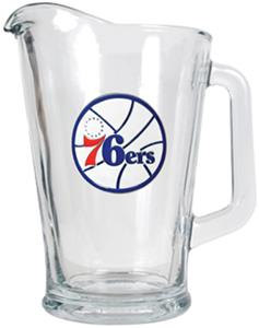 NBA Philadelphia 76ers Glass Beverage Pitcher