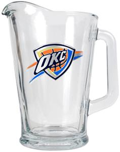 NBA Oklahoma City Thunder Glass Beverage Pitcher