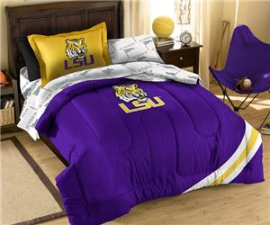 Northwest NCAA LSU Tigers Twin Bed in Bag