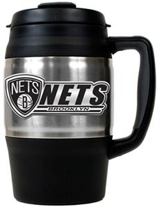 NBA Brooklyn Nets 34oz Thermal Travel Mug