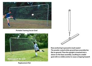 Portable Training Soccer Goal 7-1/2'H x 18'W